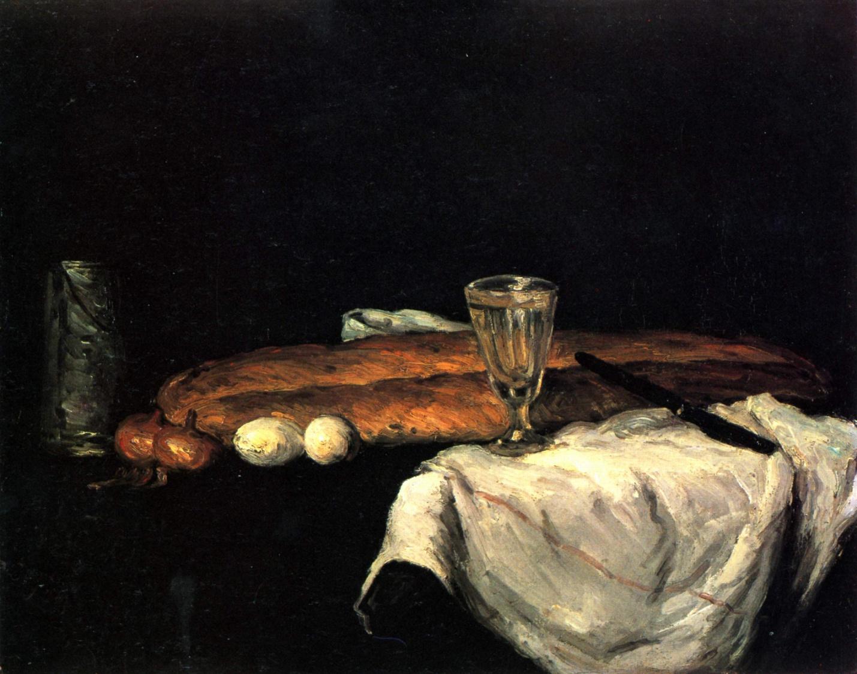 Поль Сезанн Натюрморт с хлебом и яйцами