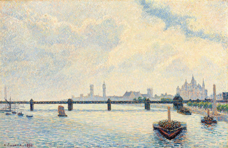 Камиль Писсарро Мост Чаринг-Кросс Лондон