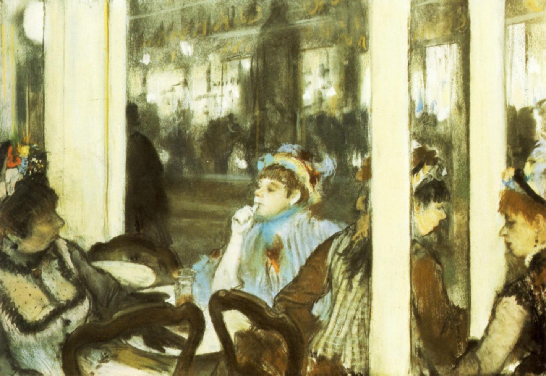Эдгар Дега Женщины на террасе в кафе