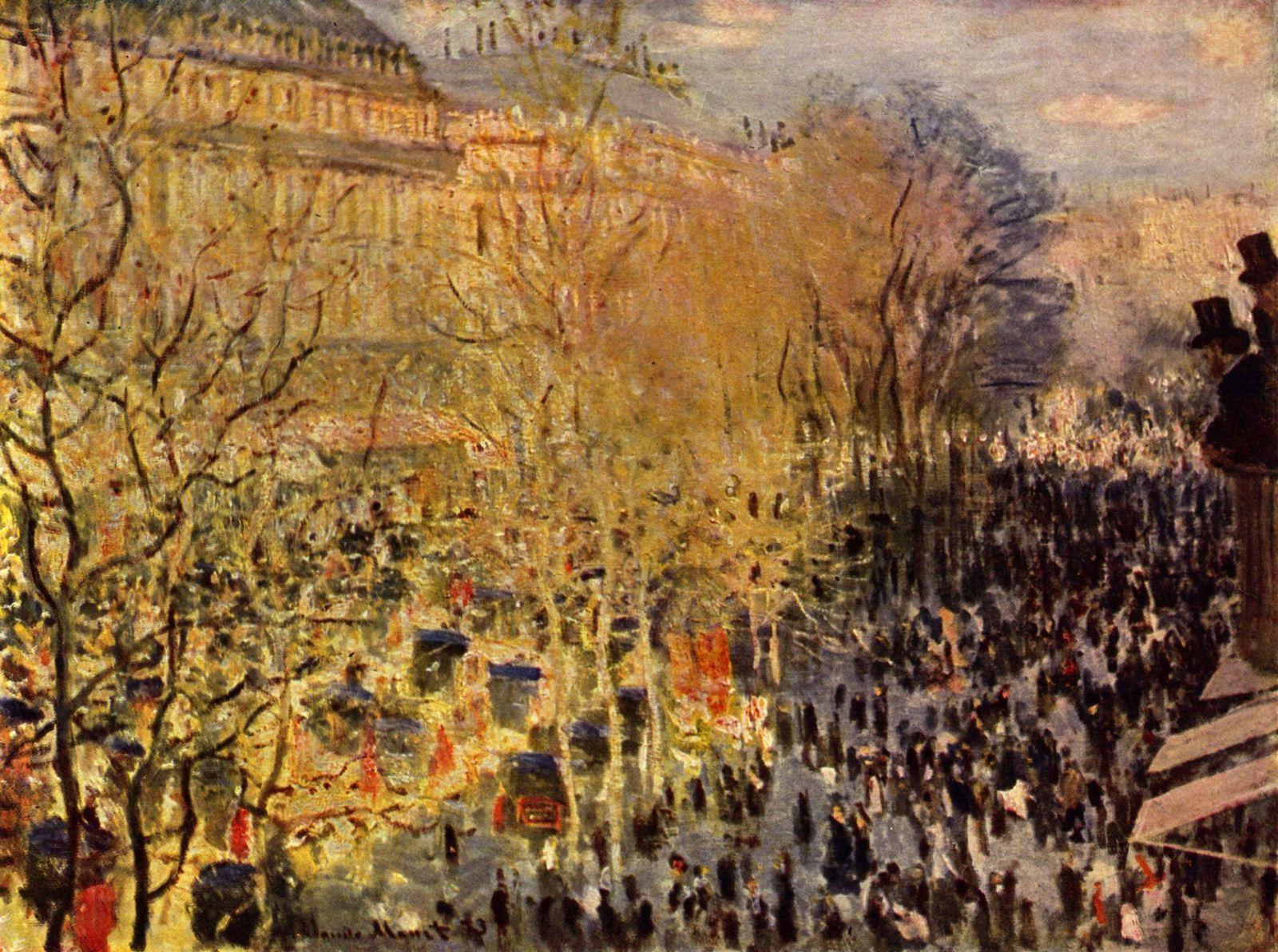 Клод Моне Бульвар капуцинок в Париже