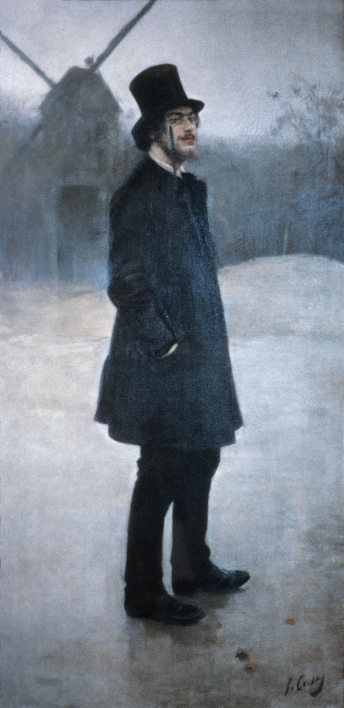 Рамон Касас Богема. Поэт Монмартра (портрет Эрика Сати)