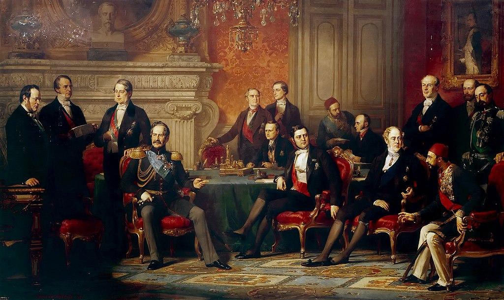 Подписание Парижского мирного договора. Худ. Луи-Эдуард Дюбюф. 1856 г.